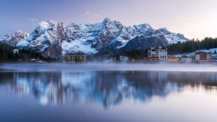 Winter in the Dolomites, Northern Italy