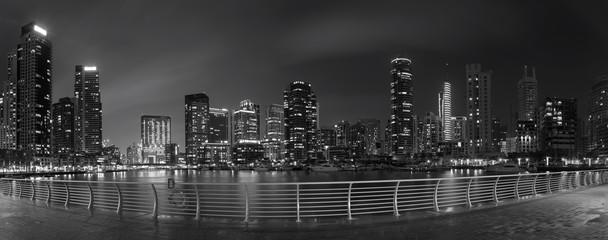 Fototapeta Dubai - The nightly panorama of Marina.