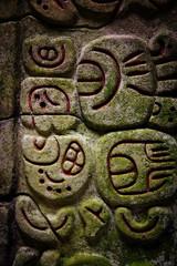 Caracol Belize glyphs