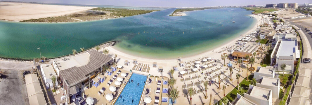 Panoramic view of Yas Island Beach, UAE