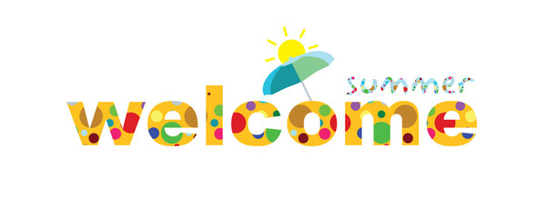 Welcome Summer Vector Template Design