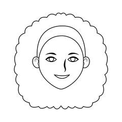 Beautiful woman cartoon icon vector illustration graphic design