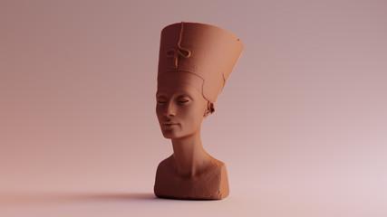 Chocolate Clay Bust of Nefertiti 3d illustration