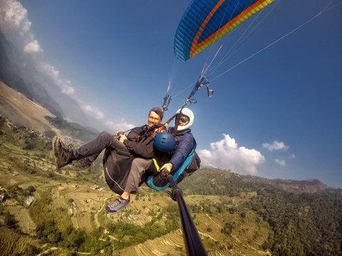 Paragliding, Pokhara, Nepal