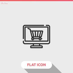 online shop vector icon