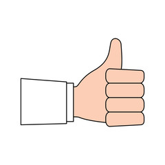 Hand with thumb up symbol icon vector illustration graphic design