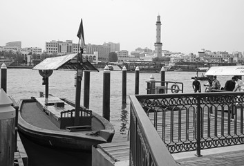 DUBAI, UAE - MARCH 29, 2017: The harbor in old city