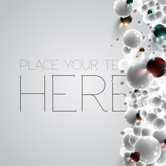 Colorful and white bubbles background, vector.