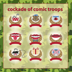 cockade of comic troops