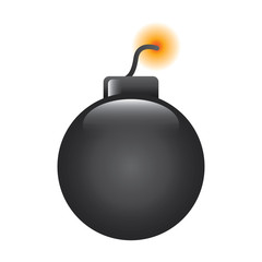 bomb danger explotion error attack icon vector illustration