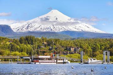 Picture of the Villarrica volcano, Chile.