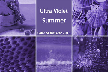 Collage of ultra violet - summer