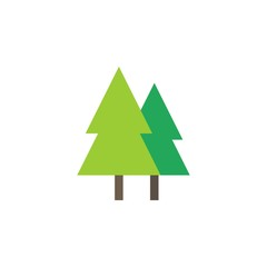 Camping & adventure icons - pine forest