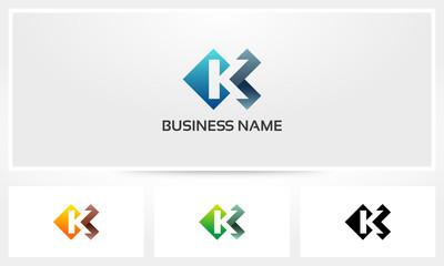 K Letter Alphabet Logo