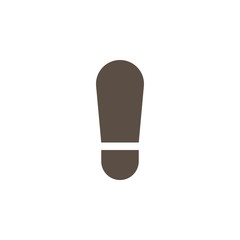 Camping & adventure icons - footprint
