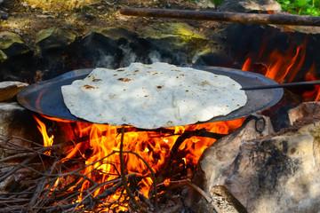 Turkish flatbread stock Image