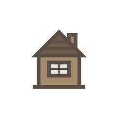 Camping & adventure icons - log cabin