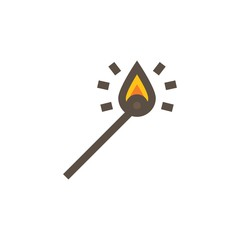 Camping & adventure icons - match stick