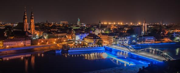 Miasto Opole nocą