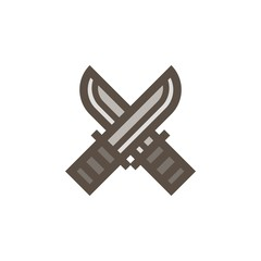 Camping & adventure icons - hunting knife