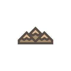 Camping & adventure icons - mountain