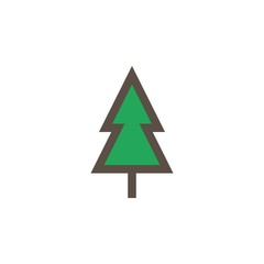 Camping & adventure icons - pine