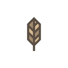 Camping & adventure icons - feather