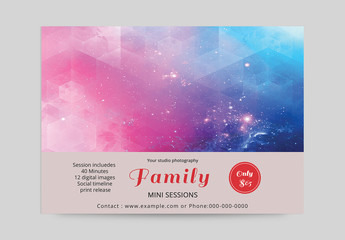 Photography Business Flyer with Red Texture Background