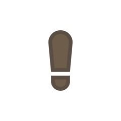 Camping & adventure icons - human footprint