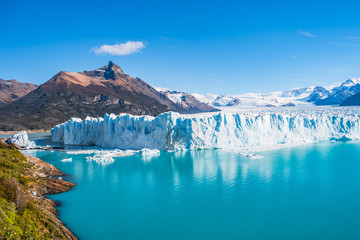 Panorama of glacier Perito Moreno in Patagonia