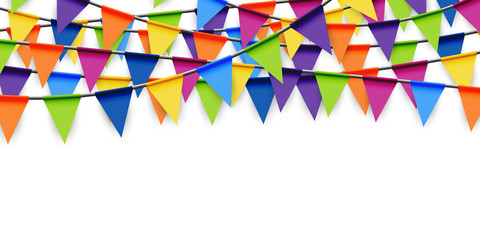 colored party garland background