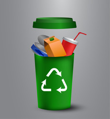 recycling bins illustration