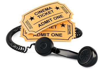 Movie Ticket Booking concept, 3D rendering