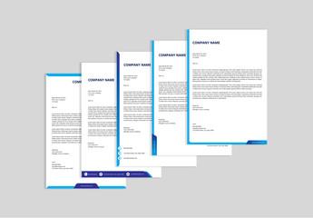 Letterhead Bundle with Blue Accents