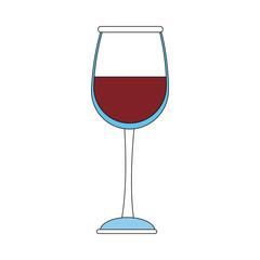 Wine glass cup icon vector illustration graphic design
