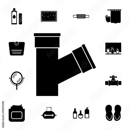 Sewage Pipe Icon Element Of Bathroom Set And Sauna