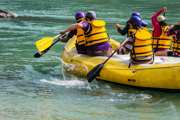 rafting on the Ganges river in Rishikesh India