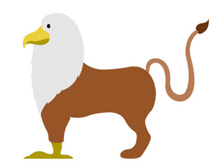 Isolated griffin icon