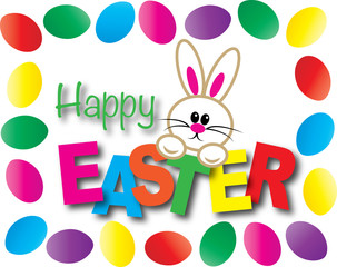 happy easter cute bunny header banner