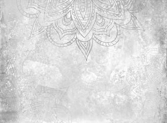 Grayscale Mandala Background