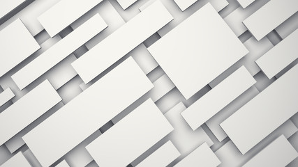 White floating 3D panels with shadow