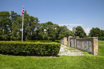 The Strachan Avenue Military Burying Ground in Toronto