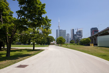 Garrison Road at the Fort York historic site