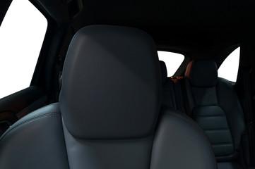 Comfort car leather seat. Interior detail.