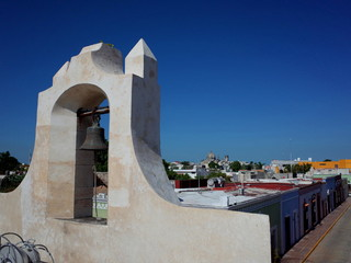The fortifications to protect against pirates in the walled city of Campeche in Mexico