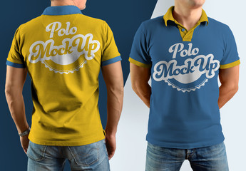Polo Shirt Mockup Set