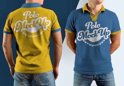Polo Shirt Mockup Set