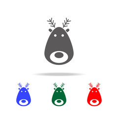 Deer icon. Elements in multi colored icons for mobile concept and web apps. Icons for website design and development, app development