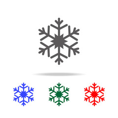 snowflake Icon. Elements in multi colored icons for mobile concept and web apps. Icons for website design and development, app development