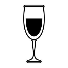 wine glass icon image vector illustration design  black and white